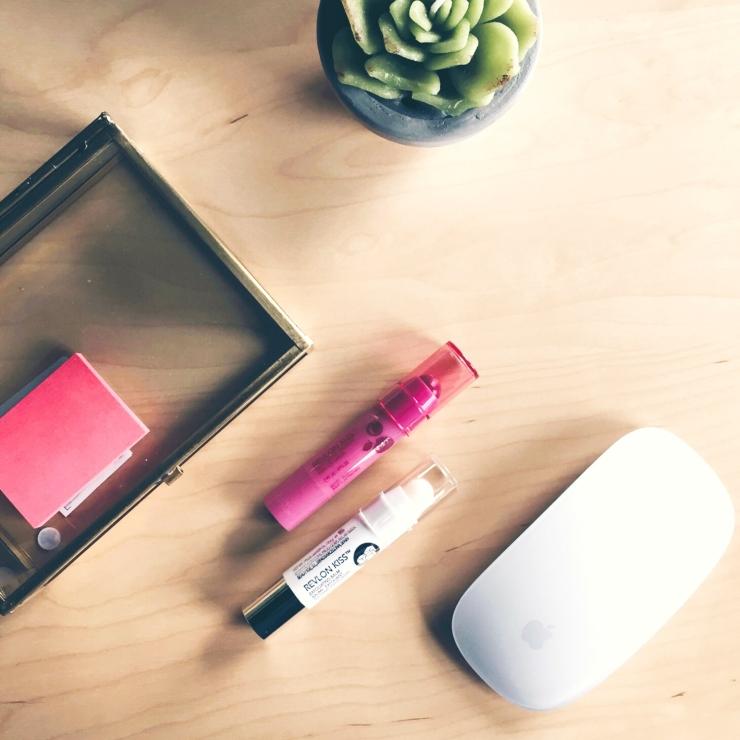Revlon Lip Duo on a desk