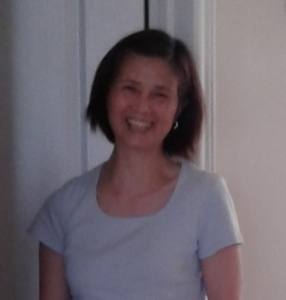 Asian mom smiling