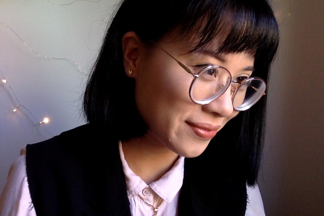 Nancy Pham with PERDITI earrings